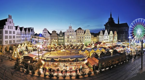 Christmas Market in Rostock, Germany