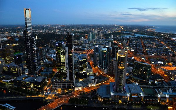 Melbourne at Night,  Australia