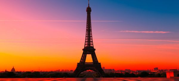 Sunset in Eiffel, Paris